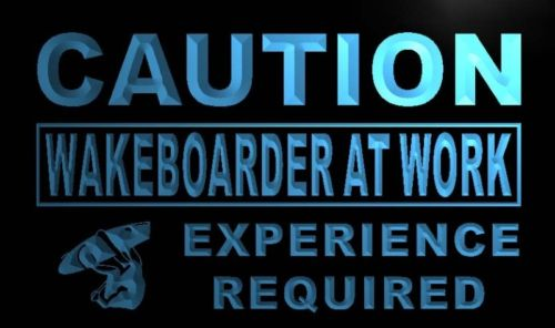Caution Wake boarder at Work Neon Light Sign